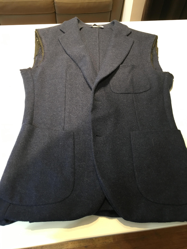 Suit jacket sleeve alteration