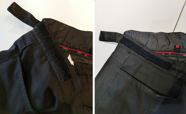 Velcro replacement on biker gear